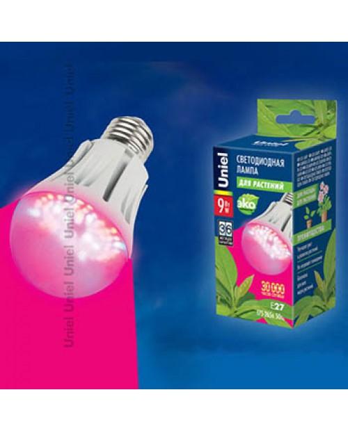 Фитолампа светодиодная для растений (рассады и цветения) LED-A60-9W/SP/E27