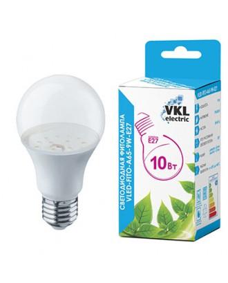 Фитолампа светодиодная для растений VKL-FITO-A65-10W-E27
