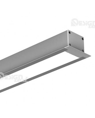 Профиль алюминиевый 4932 LUX с экраном 2 м