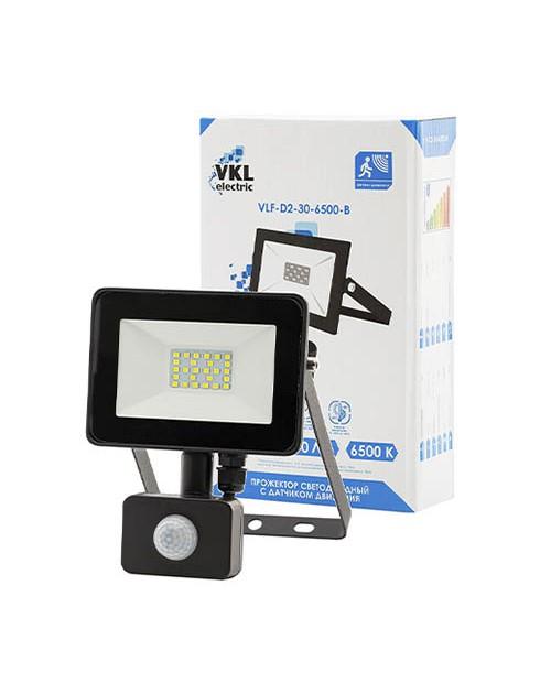 Прожектор светодиодный с датчиком движения LED SMD 30W 6500K IP65