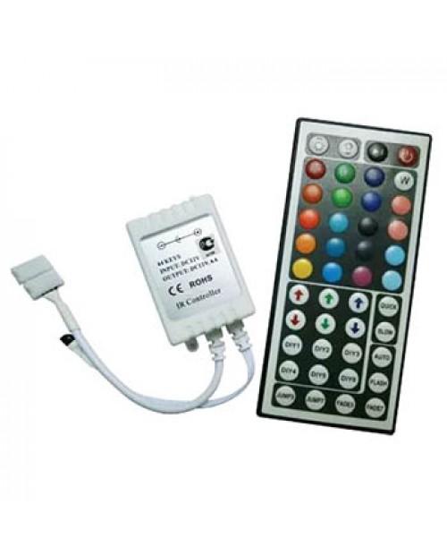 Контроллер RGB 12V 144W 12A c большим ИК пультом Ecola