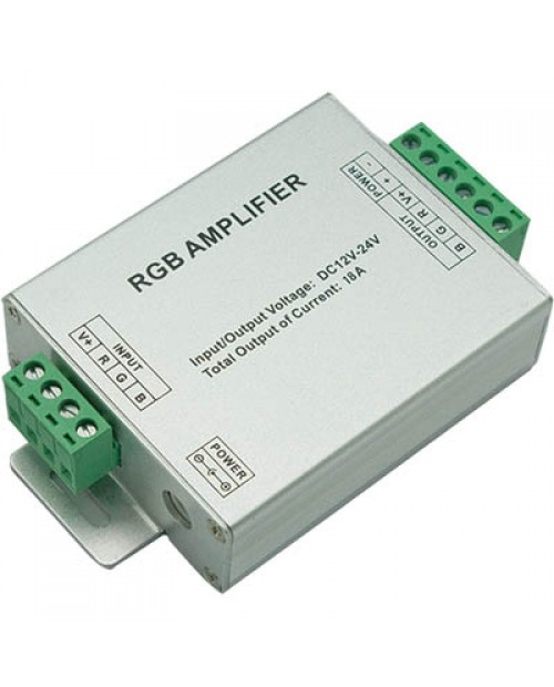 Усилитель RGB LN-18A-T (12/24V, 216/432W, 18A) Ecola