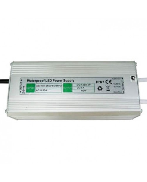 Блок питания 60W 12V (5A) IP67